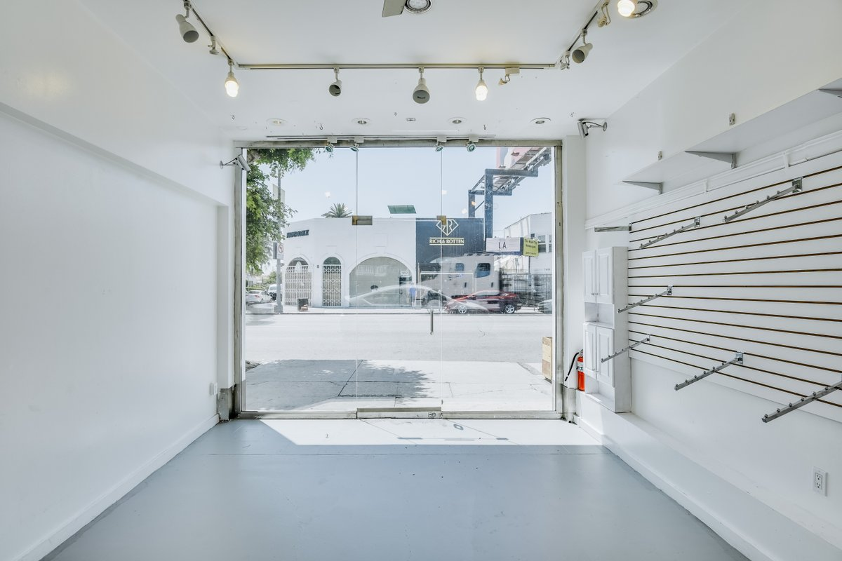 Storefront listing Retail Pop-Up & Upstairs Creative Room on Melrose in Hollywood, Los Angeles, United States.