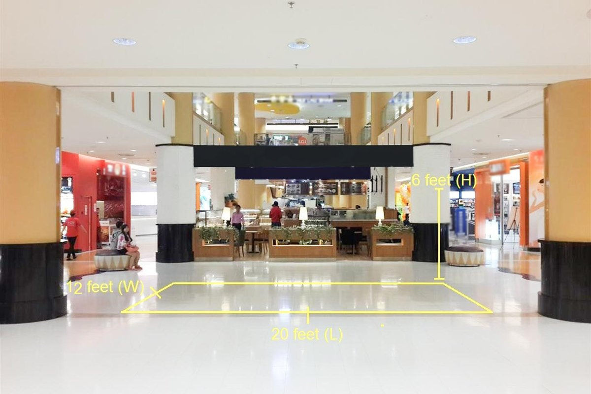 Storefront listing Orange Wing, Lower Ground Floor 2 of a Mall in Sunway City, Selangor, Malaysia.