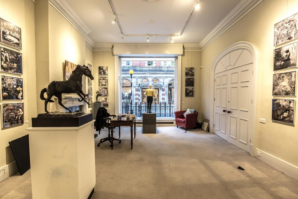 Storefront listing Tasteful Art Gallery in Mayfair in Mayfair, London, United Kingdom.