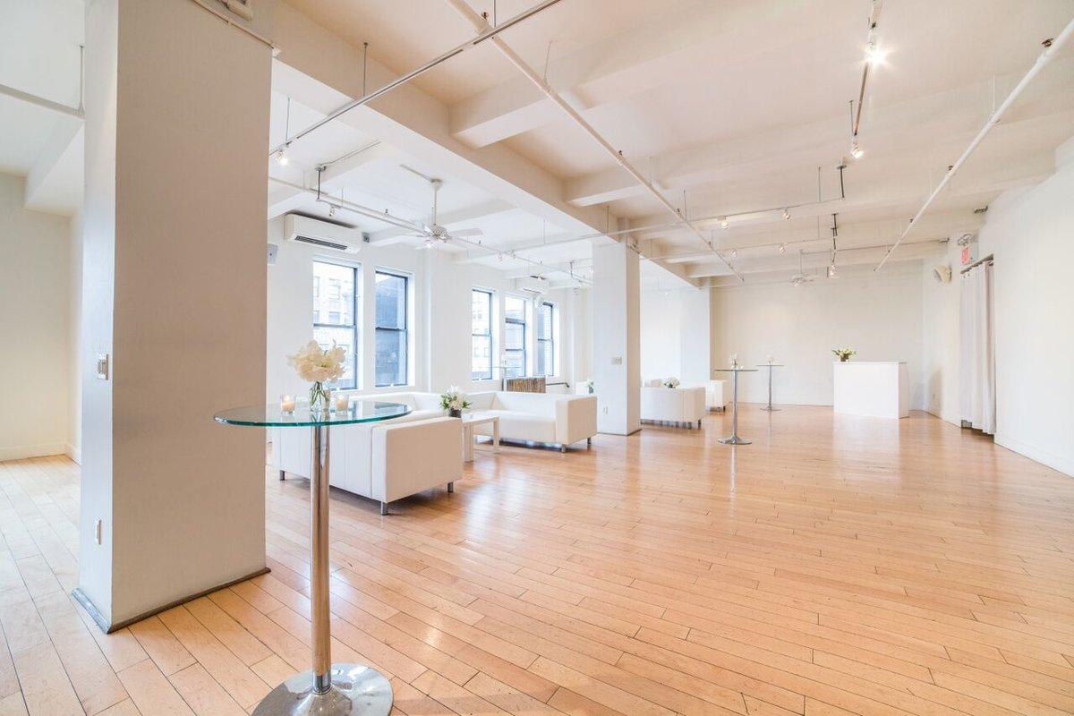 Storefront listing Loft Space in the Garment District in Garment District, New York, United States.