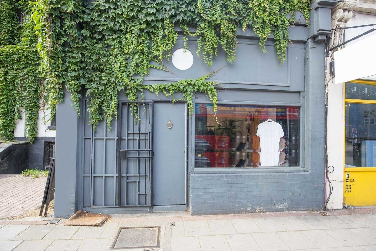 Storefront listing Prime Hoxton Pop-Up Store in Hoxton, London, United Kingdom.