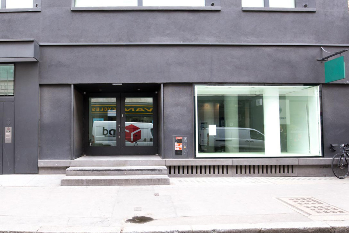 Storefront listing Modern Gallery Space in Fitzrovia in Fitzrovia, London, United Kingdom.