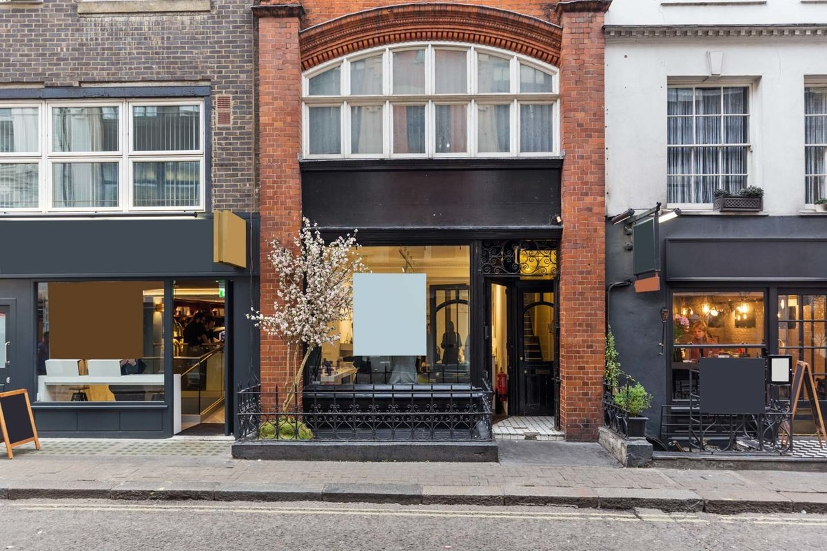 Storefront listing Chic Townhouse Venue in Soho in Soho, London, United Kingdom.