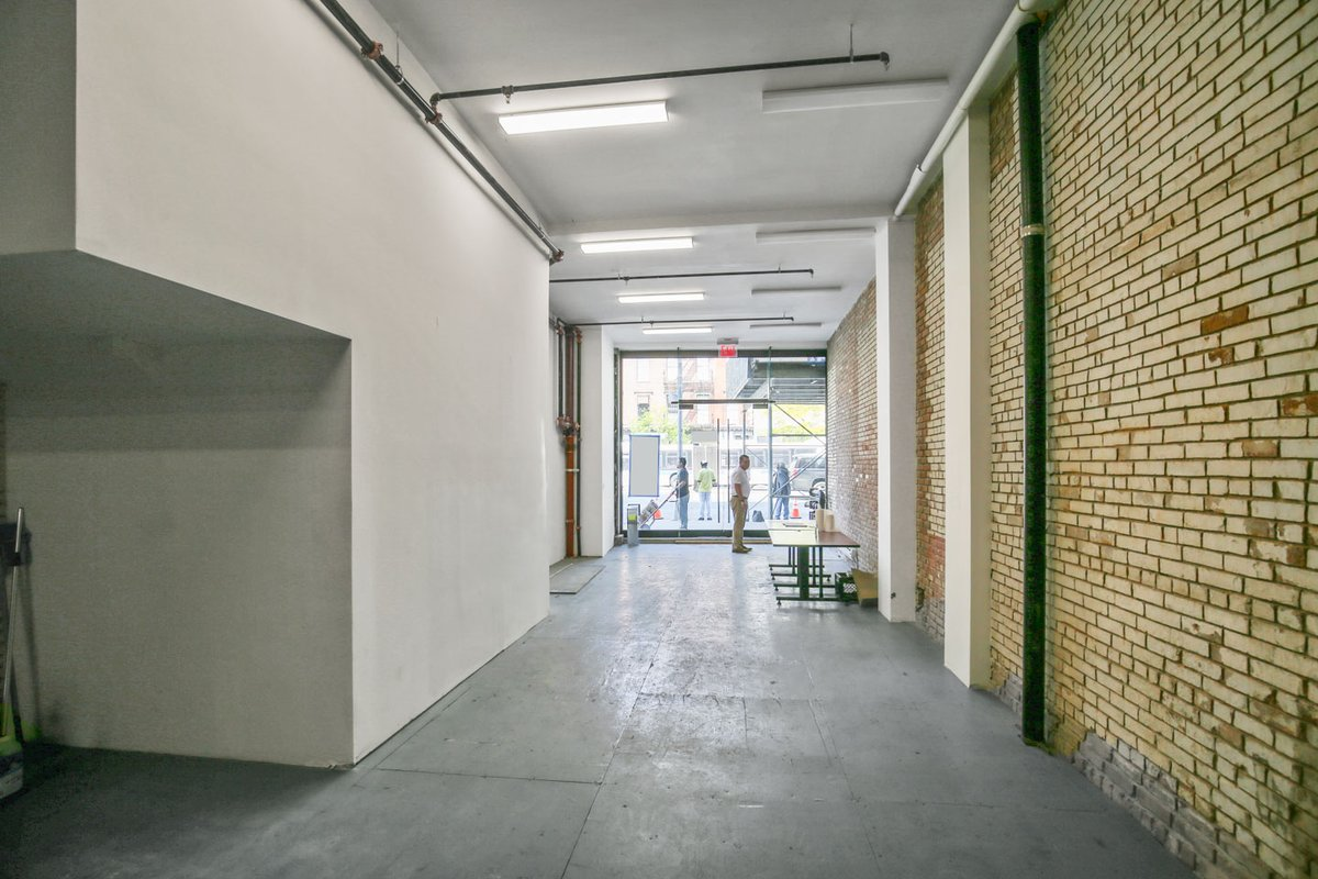 Storefront listing Exposed Brick Bowery Space in NoHo, New York, United States.