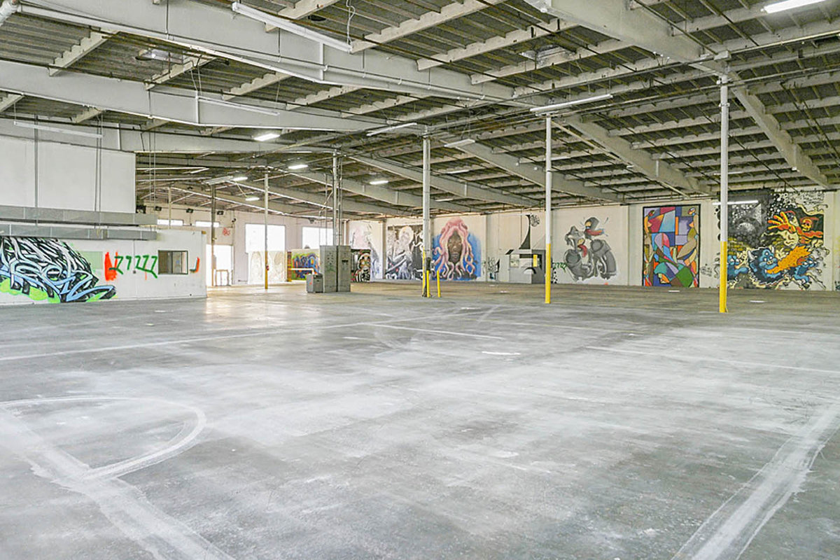 Storefront listing Prime DTLA Warehouse Space in Arts District, Los Angeles, United States.