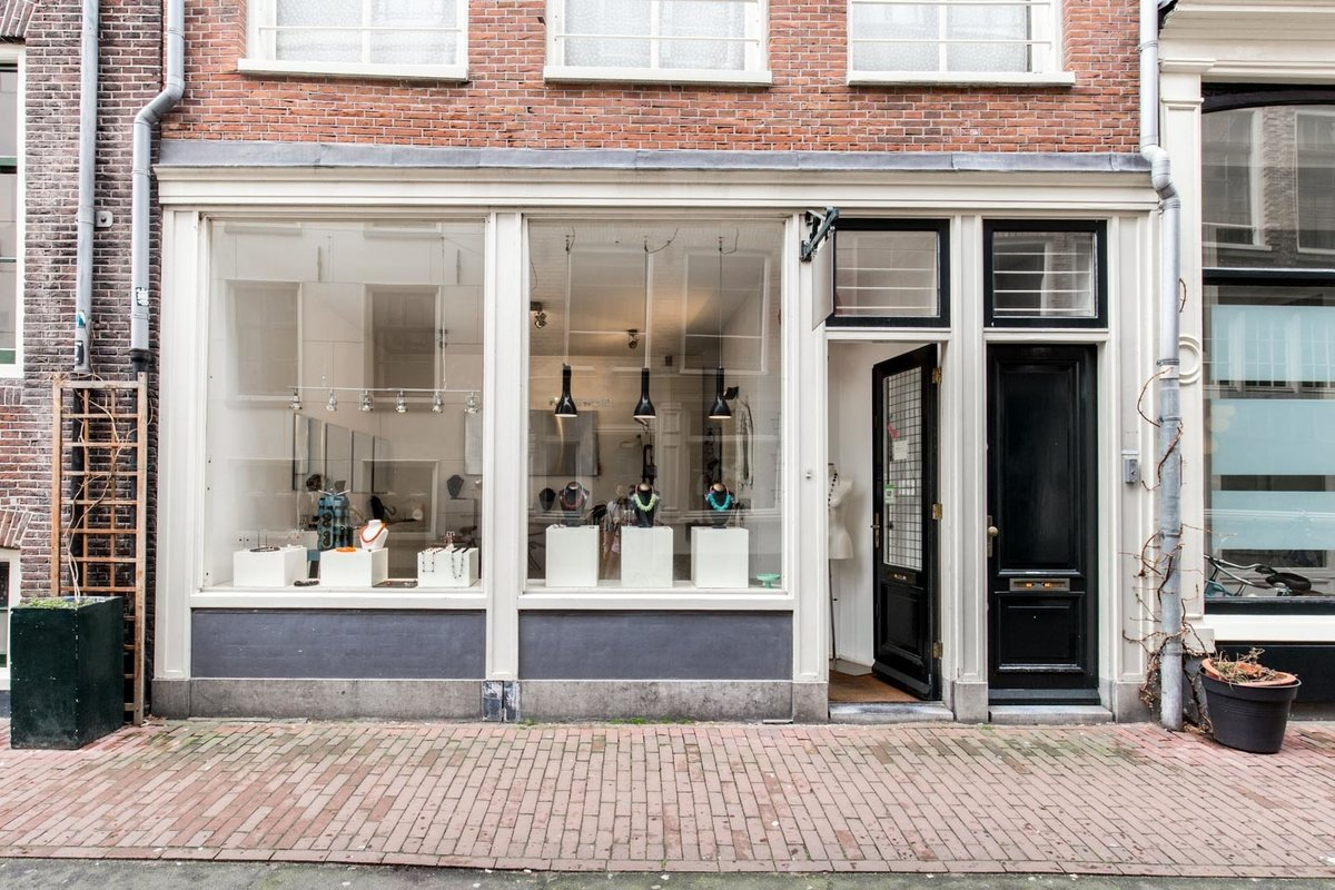 Storefront listing Pop-Up Boutique in Jordaan in Jordaan, Amsterdam, Netherlands.