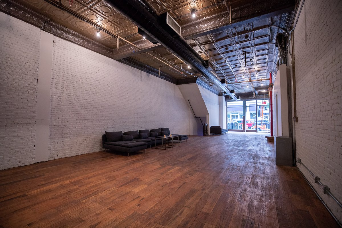 Storefront listing Spacious Retail Space in Tribeca in Lower Manhattan, New York, United States.