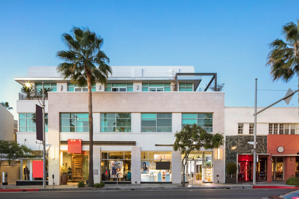 Storefront listing North Beverly Retail Space in Downtown, Los Angeles, United States.