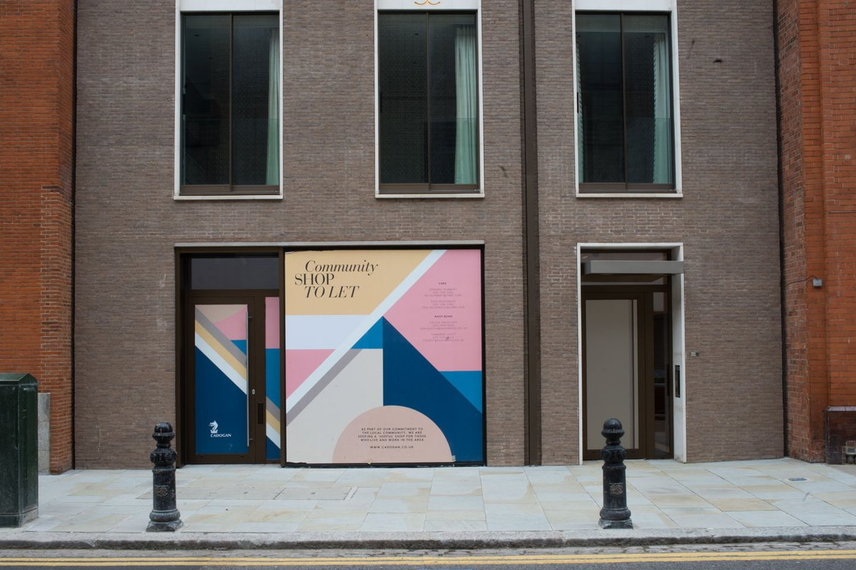 Storefront listing King's Road Pop Up Boutique in Chelsea, London, United Kingdom.