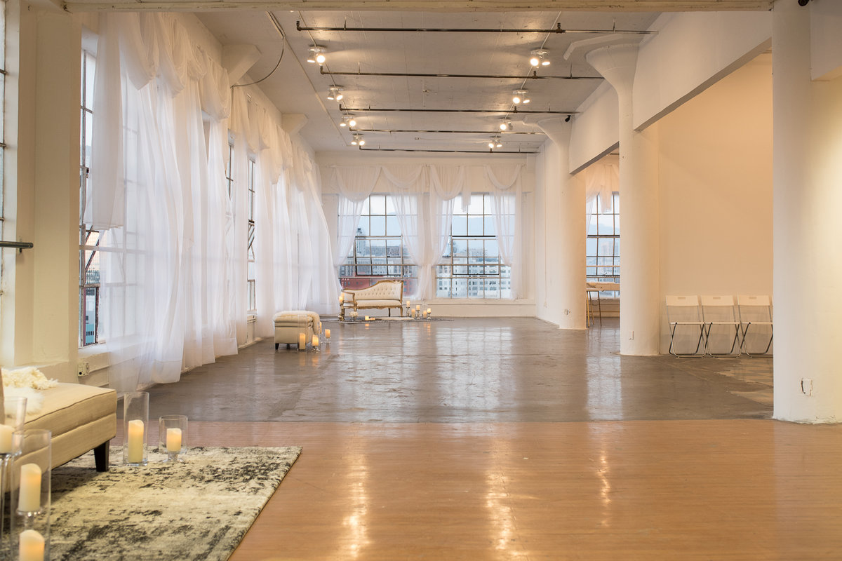 Storefront listing DTLA Penthouse Studio in Downtown, Los Angeles, United States.