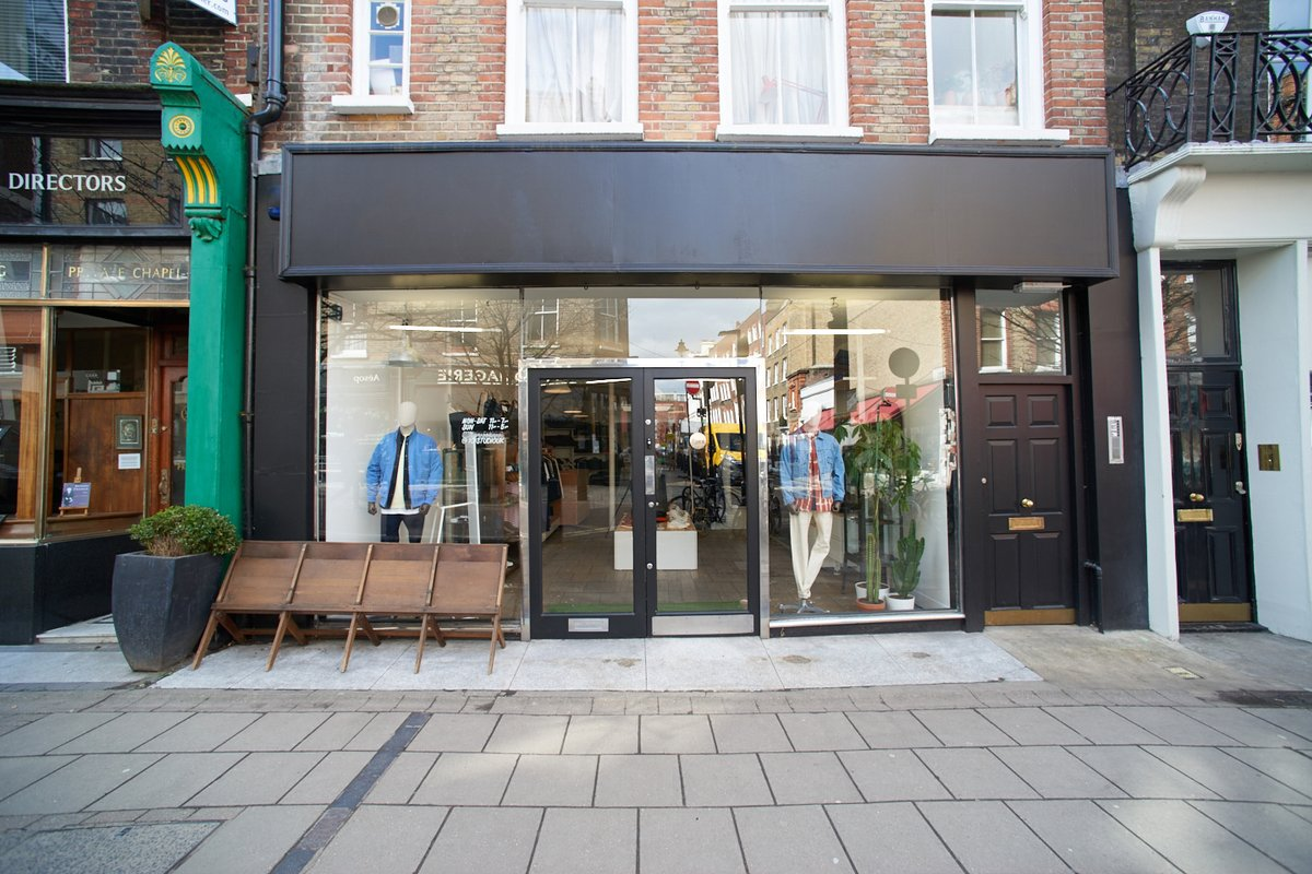 Storefront listing Lambs Conduit Street Shop Share in Holborn, London, United Kingdom.