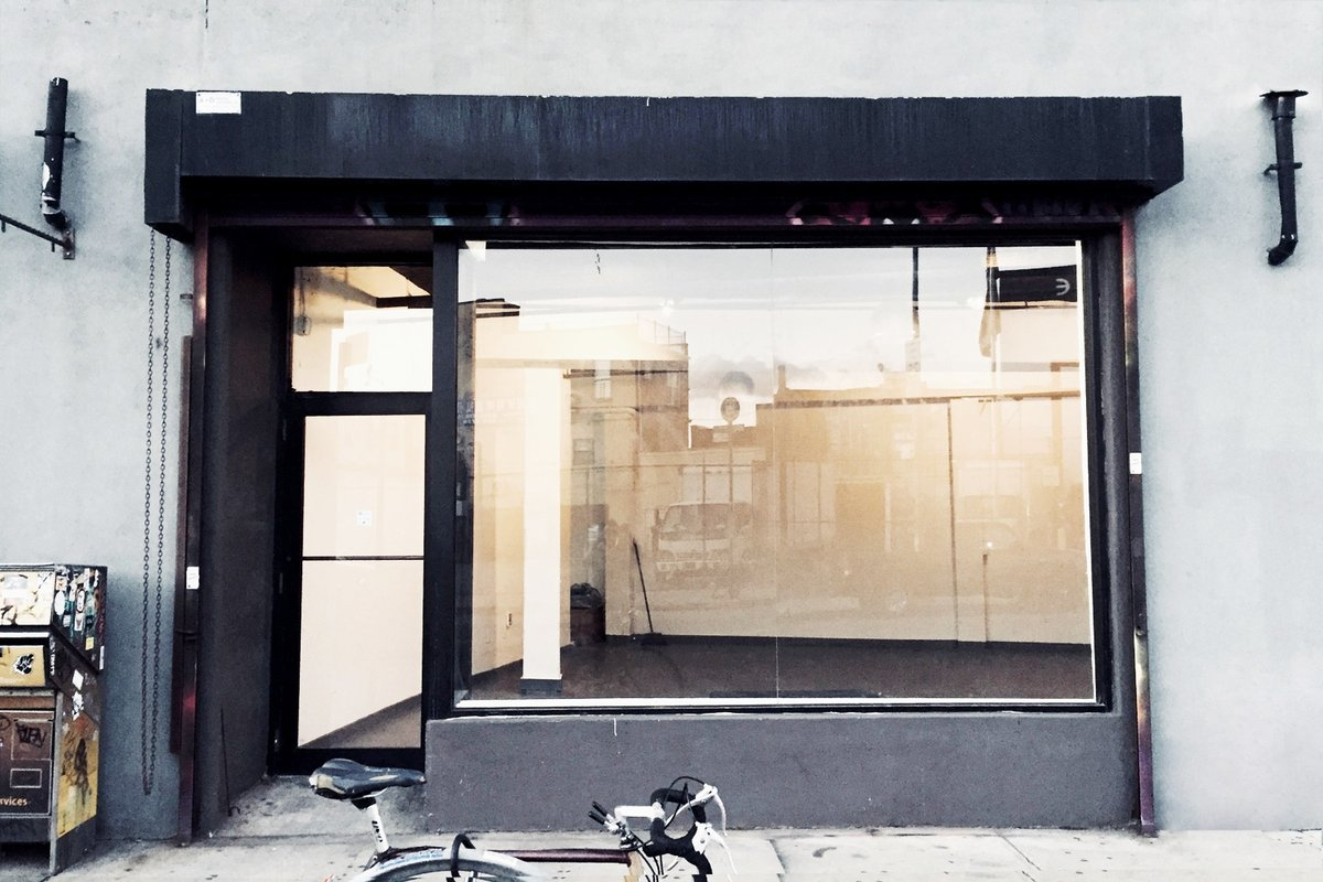 Storefront listing White Studio in Bushwick in East Williamsburg, Brooklyn, United States.