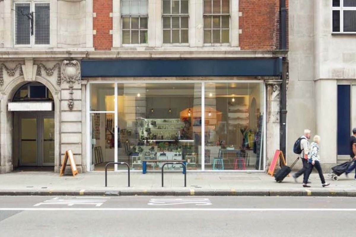 Storefront listing Beautiful Bloomsbury Retail Store in Bloomsbury, London, United Kingdom.
