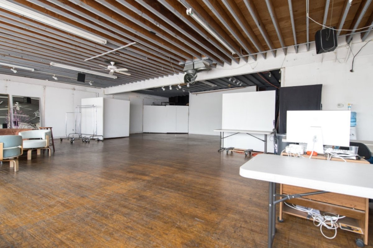Storefront listing Loft Studio in West Hollywood in Melrose, Los Angeles, United States.