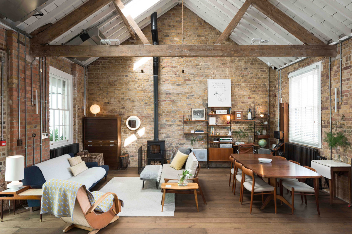 Storefront listing Rustic Loft Showroom Near Angel in Islington, London, United Kingdom.