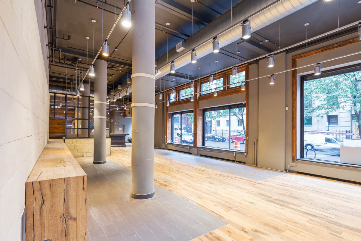 Storefront listing Versatile Space in Noho in Lower Manhattan, New York, United States.