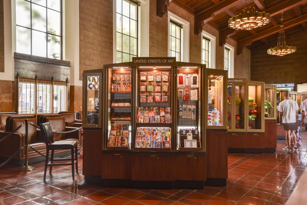 Storefront listing Special Retail Space in Los Angeles Union Station in Central LA, Los Angeles, United States.