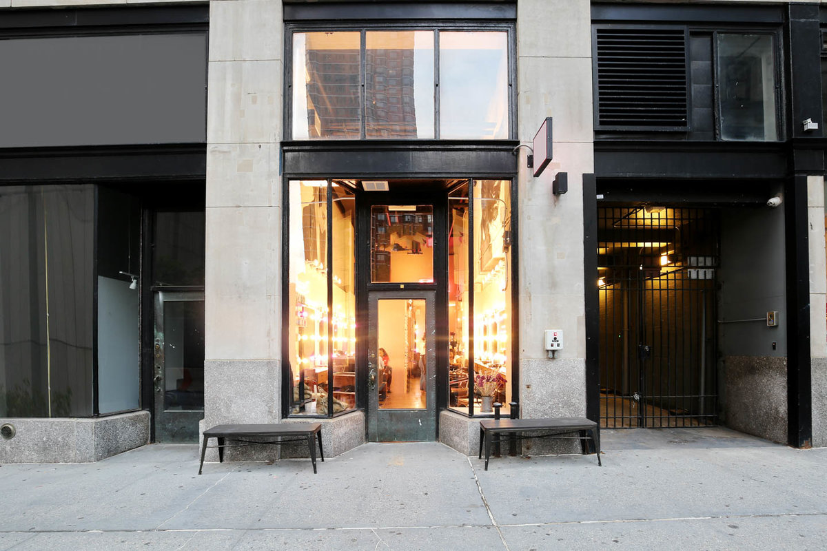 Storefront listing Salon Space in Tribeca in Tribeca, New York, United States.