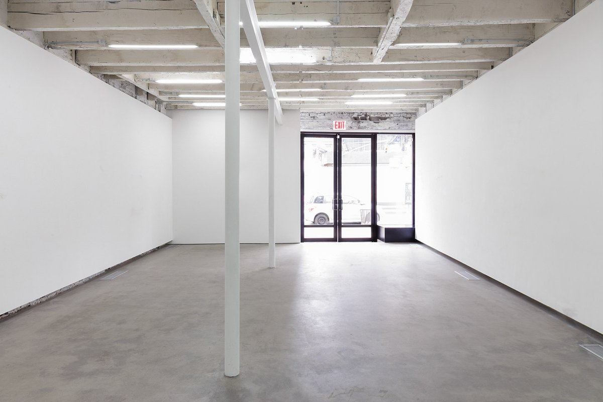 Storefront listing Art & Retail Space in Bowery in Lower Manhattan, New York, United States.