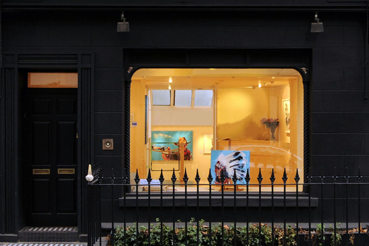 Storefront listing Pop-Up Gallery in the West End in Fitzrovia, London, United Kingdom.