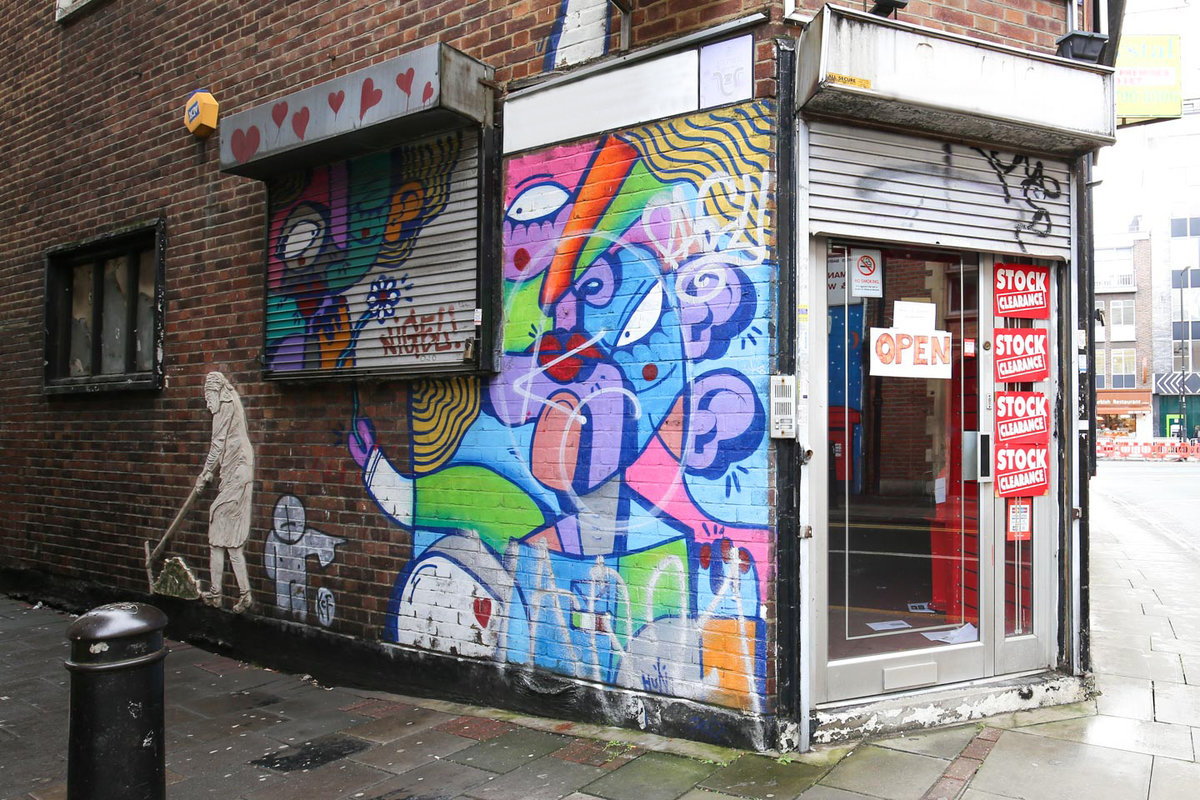 Storefront listing Pop-Up Venue in Whitechapel in Whitechapel, London, United Kingdom.