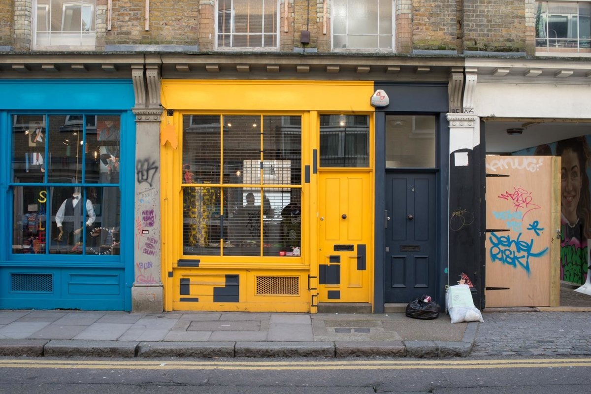 Storefront listing Trendy Shoreditch Boutique in Shoreditch, London, United Kingdom.