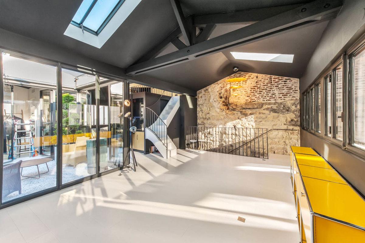 Storefront listing fabulous apartment near louvre museum paris france