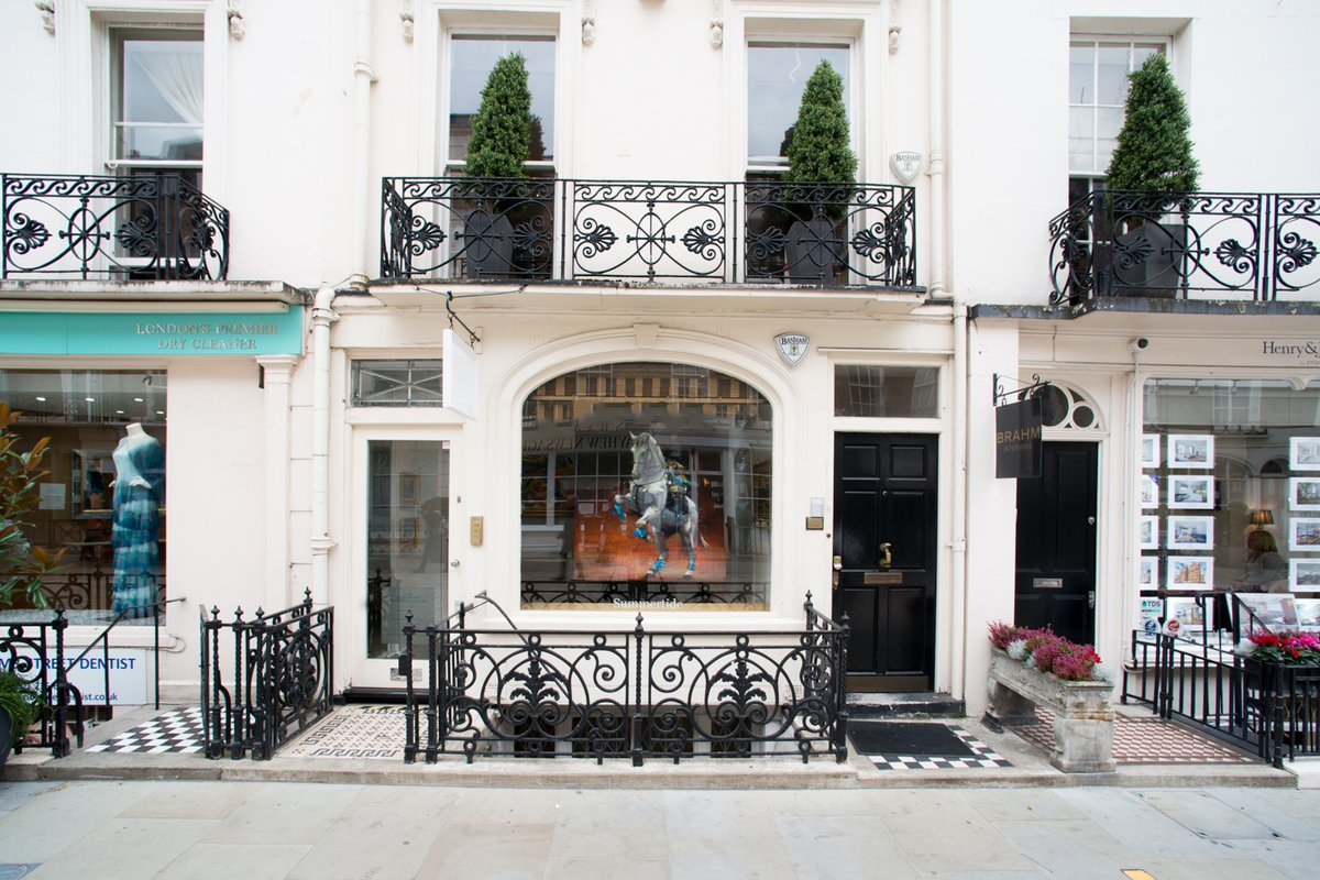 Storefront listing Knightsbridge Gallery Event Space, London, United Kingdom.
