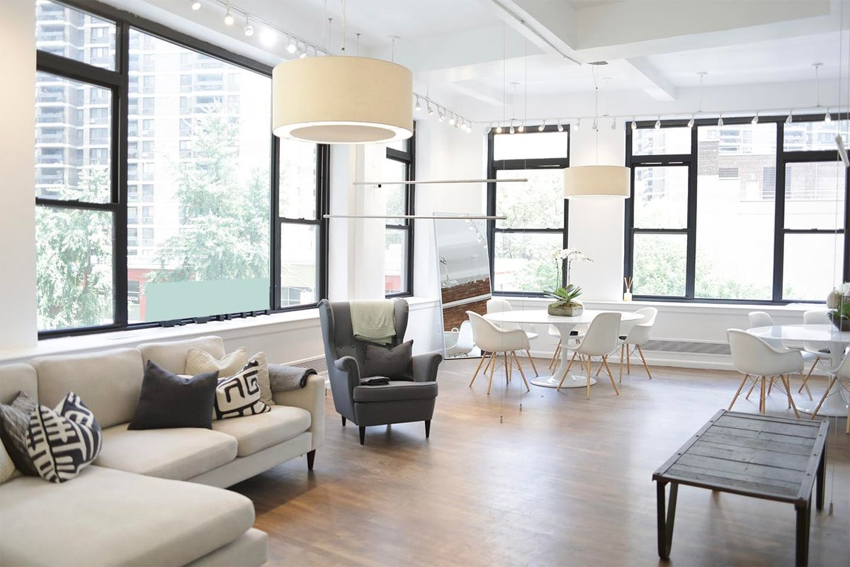 Storefront listing Sunny & Spacious Loft in South Seaport in Lower Manhattan, New York, United States.