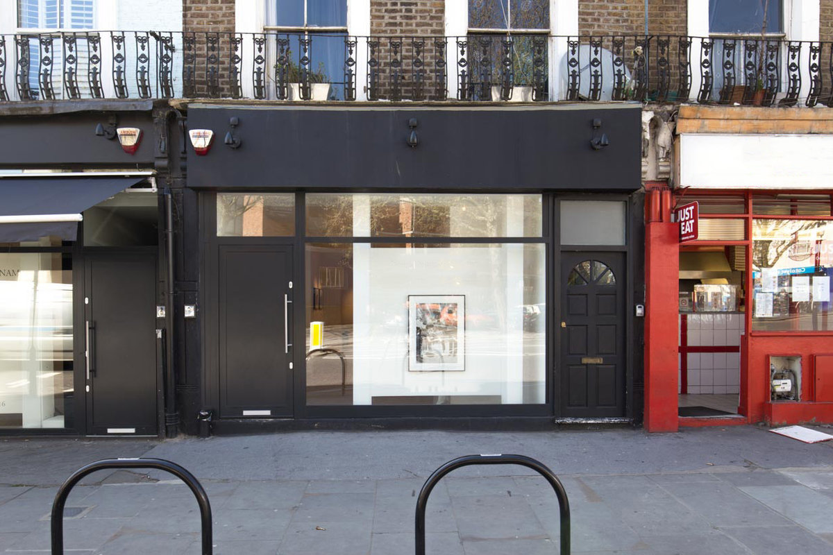 Storefront listing Pop-Up Gallery in Ladbroke Grove in Notting Hill, London, United Kingdom.