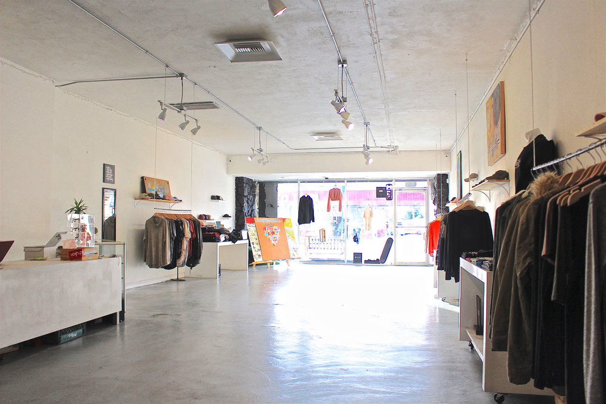 Storefront listing Pop-Up Boutique in The Valley in Old Northridge, Los Angeles, United States.