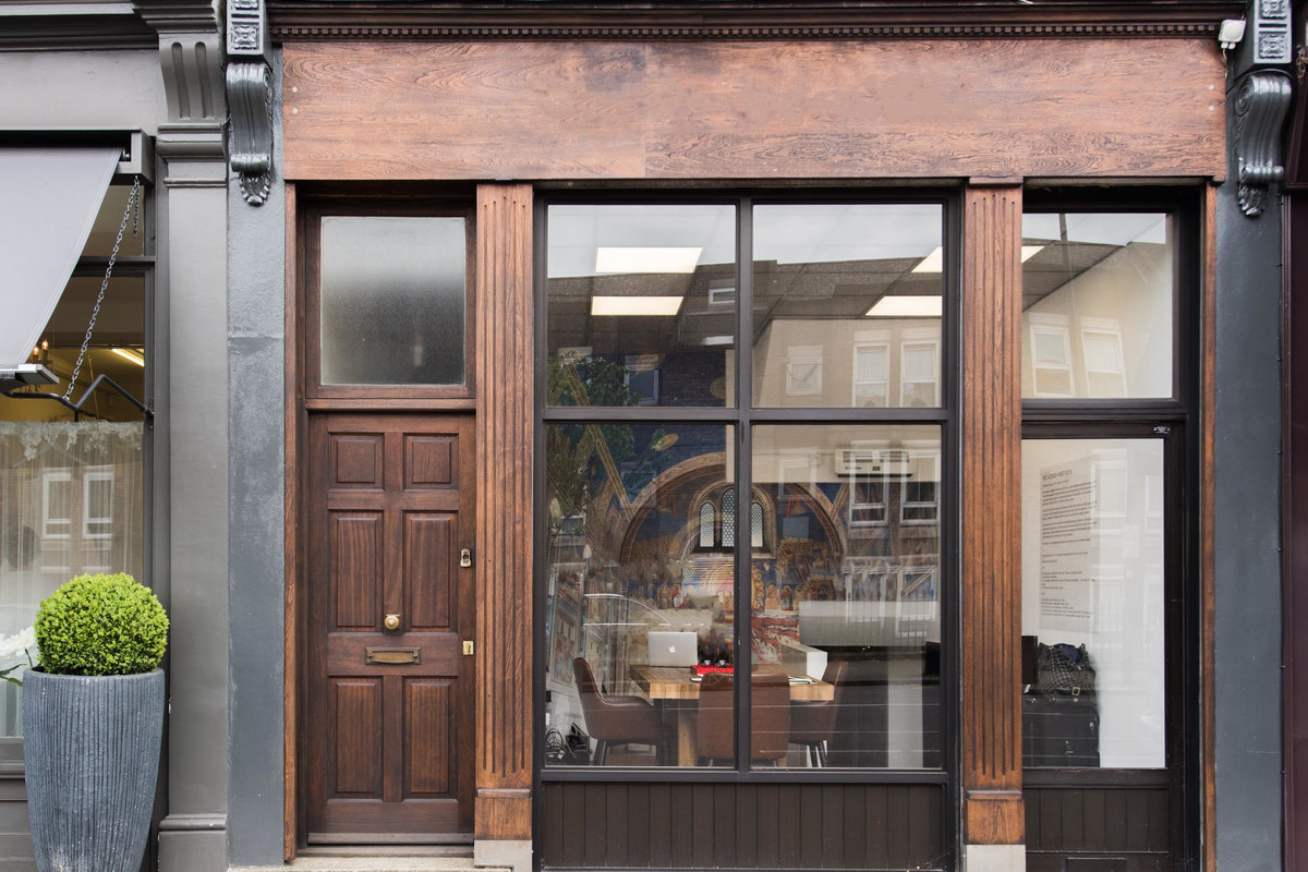 Storefront listing Art Gallery Near Angel Station in Angel, London, United Kingdom.
