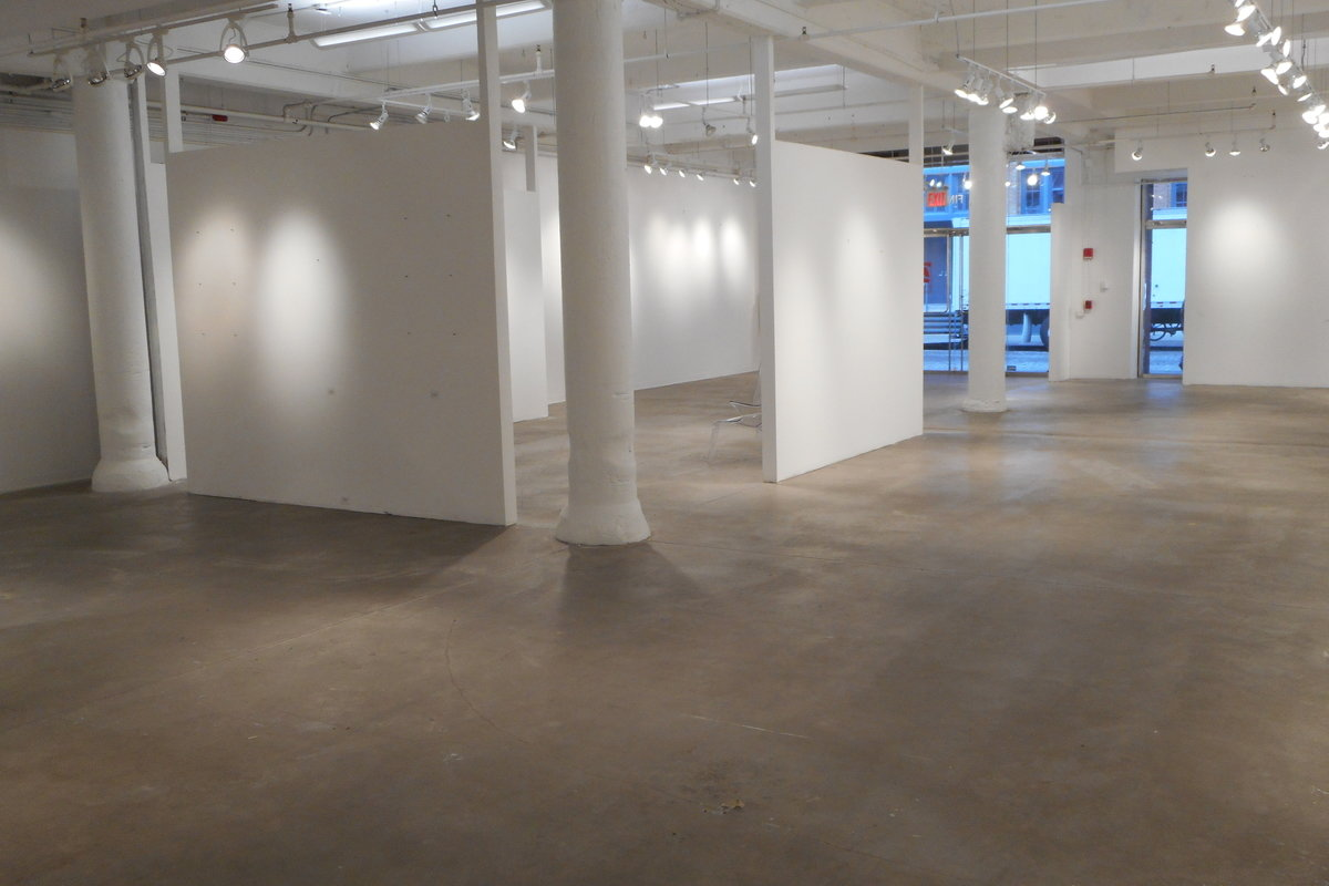 Storefront listing Contemporary Gallery in the Meatpacking District in Greenwich Village, New York, United States.