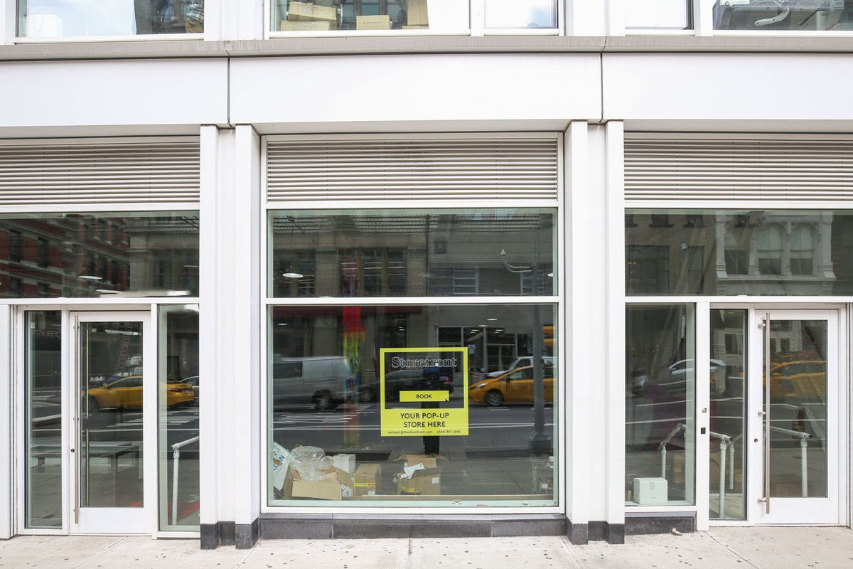Storefront listing Concept Store Retail Space in SoHo in Lower Manhattan, New York, United States.