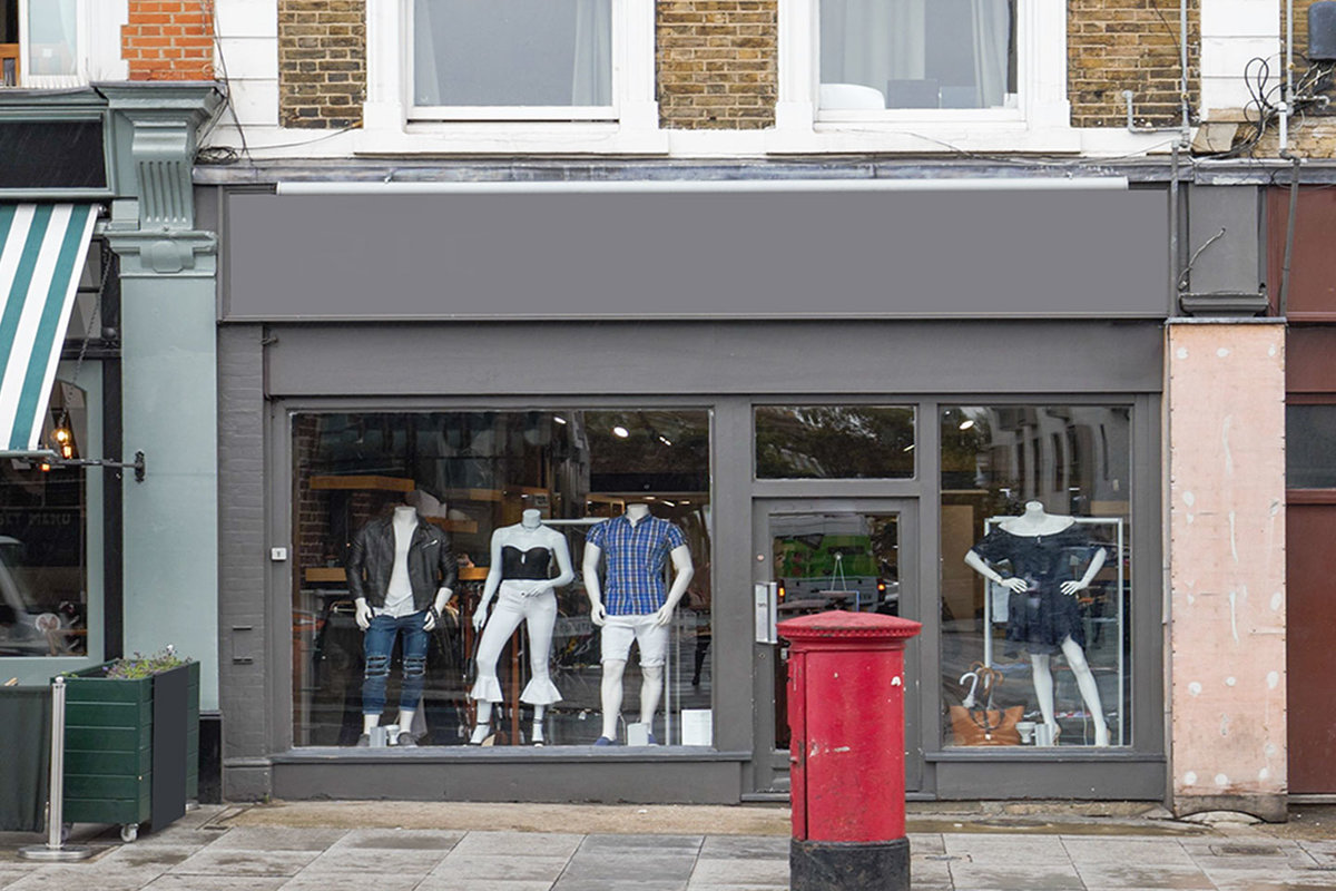 Storefront listing Clapham Pop-Up Shop in Clapham, London, United Kingdom.