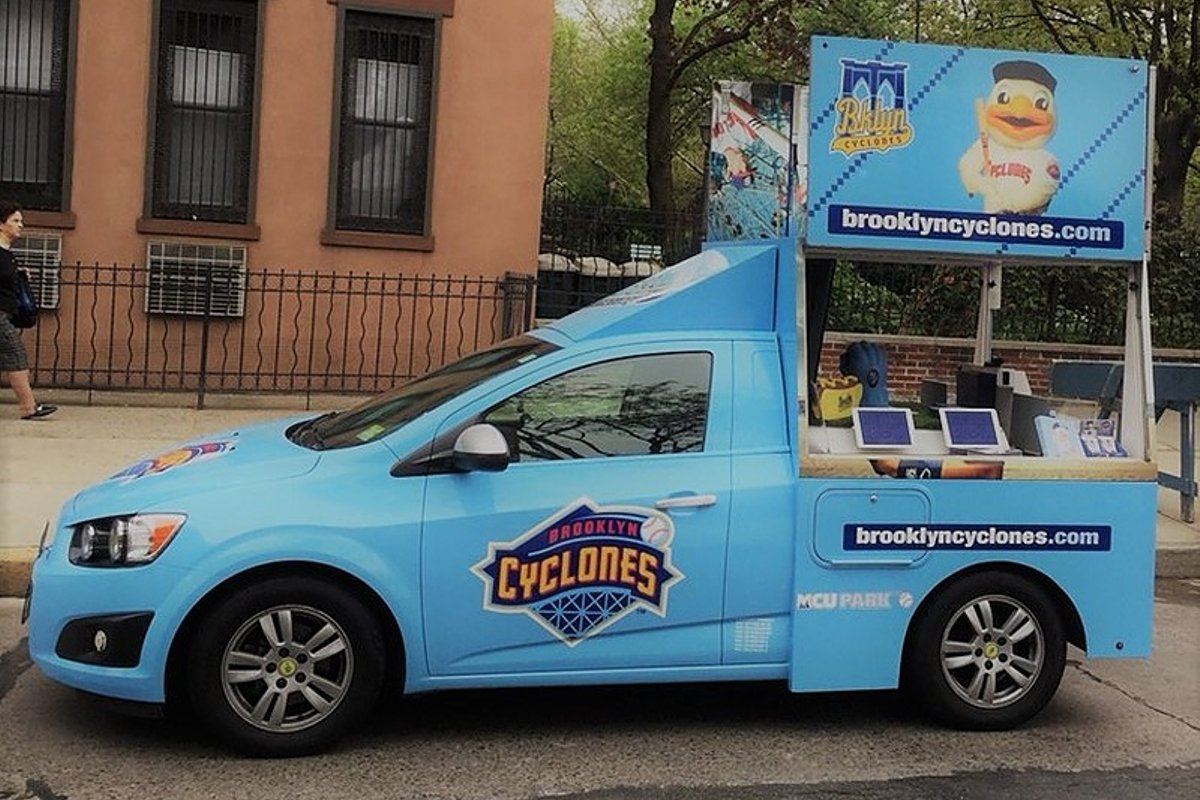 Storefront listing Flexible Mobile Pop-up Vehicle in NY in SoHo, New York, United States.
