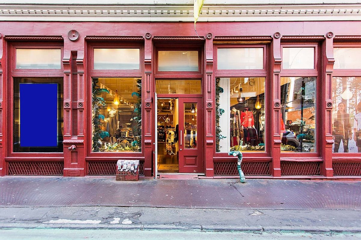 Storefront listing Pop-Up Shop in Great Soho Location in Soho, New York, United States.