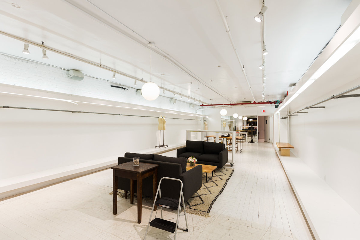 Storefront listing Tribeca Fashion Showroom Space in Tribeca, New York, United States.