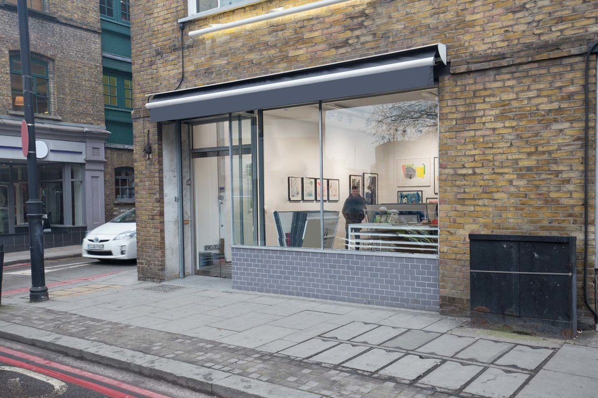 Storefront listing Sleek Pop-Up Store in Shoreditch in Shoreditch, London, United Kingdom.