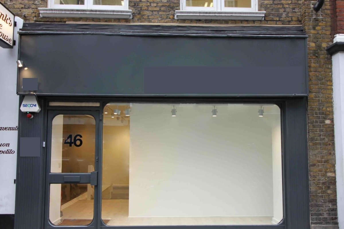 Storefront listing Trendy Showroom in Central London in Fitzrovia, London, United Kingdom.