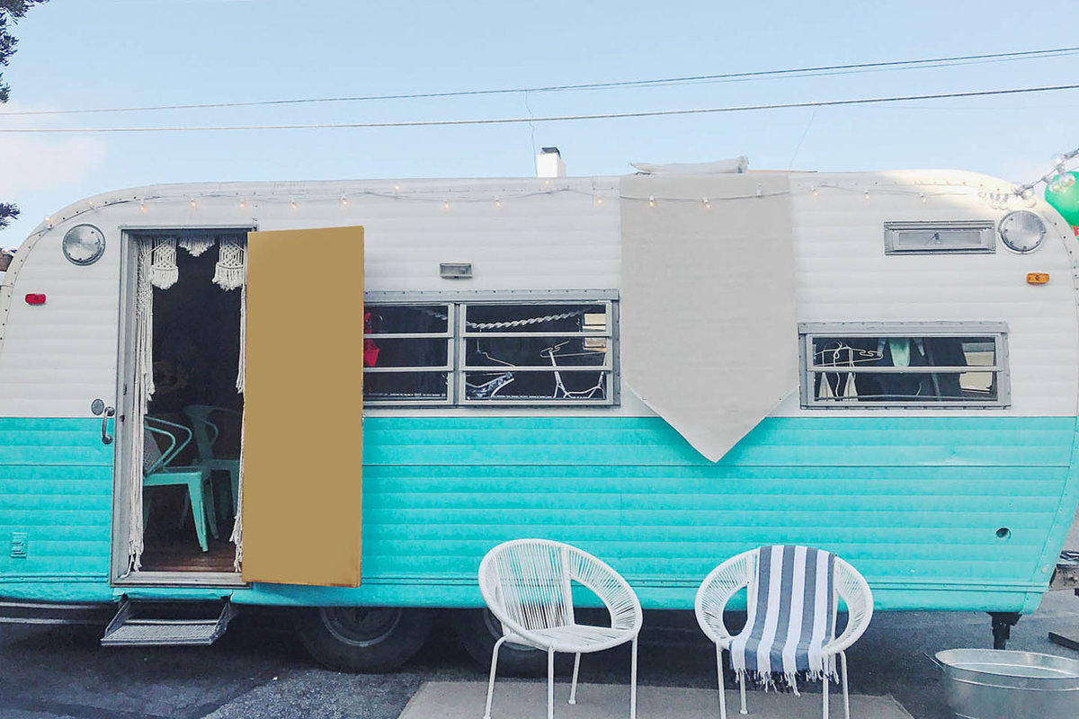 Storefront listing Renovated Vintage Pop-Up Trailer in Topanga, Los Angeles, United States.