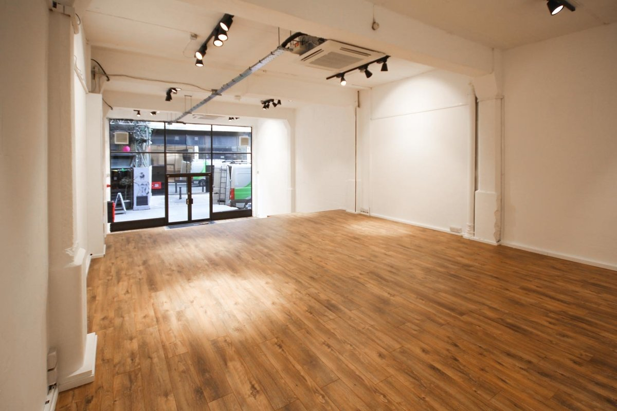 Storefront listing Industrial Event Space Brick Lane in Shoreditch, London, United Kingdom.