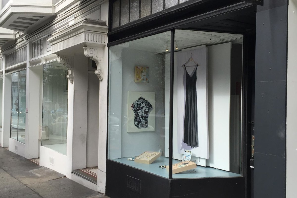 Storefront listing Modern Pop-Up Gallery in Nob Hill in Nob Hill, San Francisco, United States.