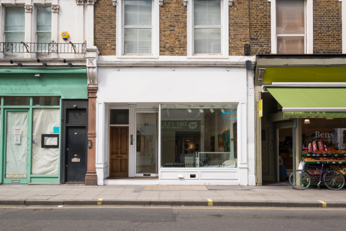 Storefront listing Gallery Space in Notting Hill in Notting Hill, London, United Kingdom.