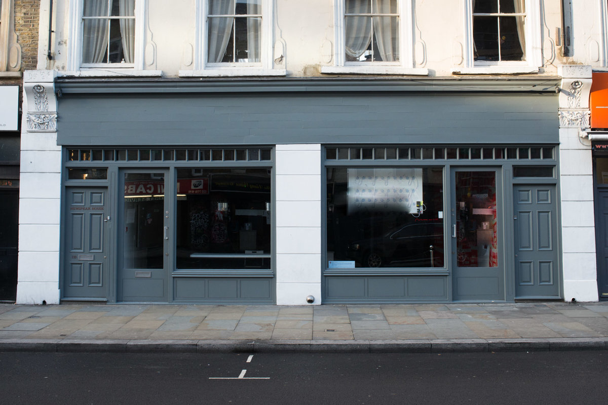 Storefront listing Urban Pop-Up Space in East End in Shoreditch, London, United Kingdom.