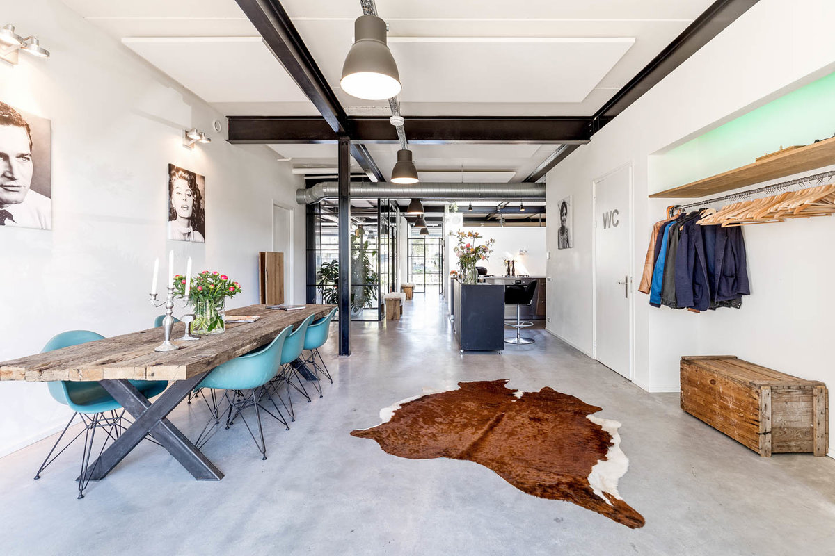 Storefront listing Modern Loft Space in East in Oost, Amsterdam, Netherlands.