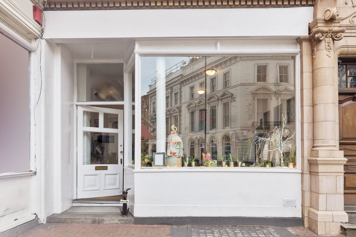 Storefront listing Welcoming Boutique in Fulham in Fulham, London, United Kingdom.