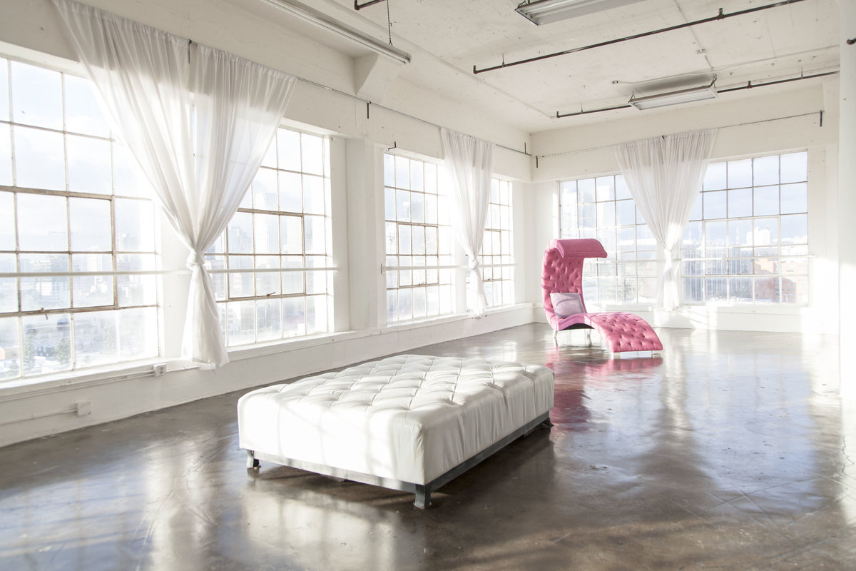 Storefront listing Loft Studio Showroom in DTLA in Fashion District, Los Angeles, United States.