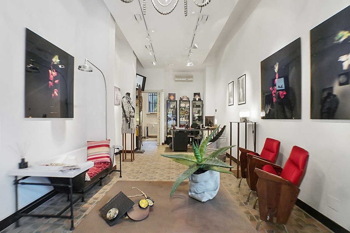 Storefront listing Charming Gallery Space in Savona-Tortona, Milan, Italy.