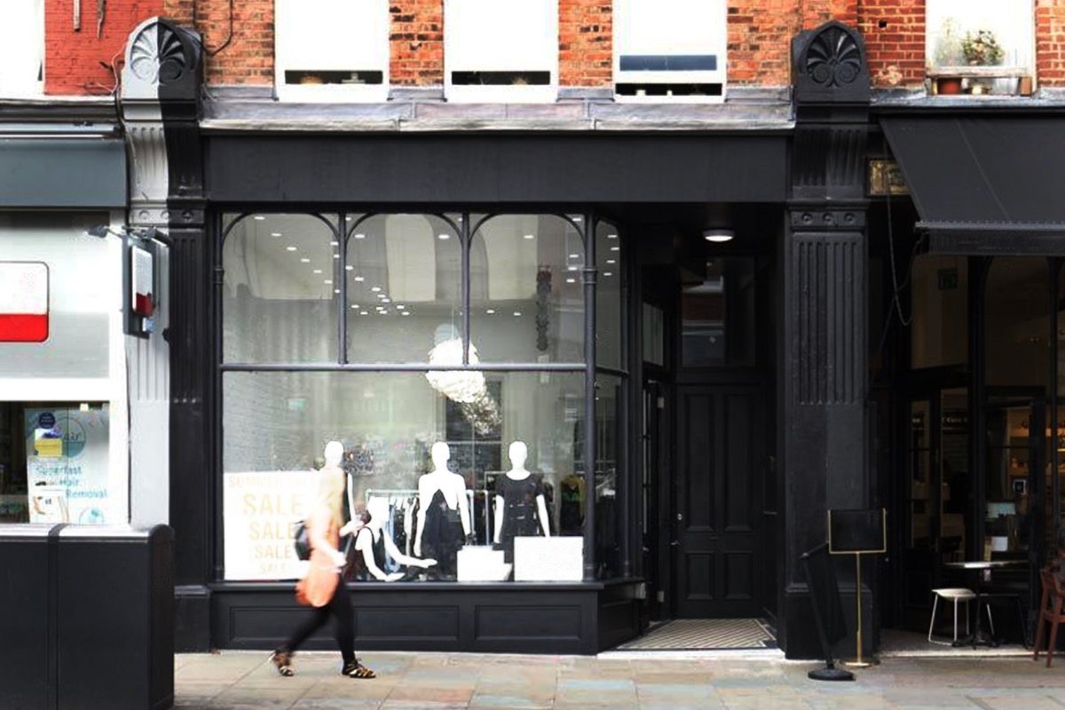 Storefront listing Trendy Shop Share in Islington in Angel, London, United Kingdom.